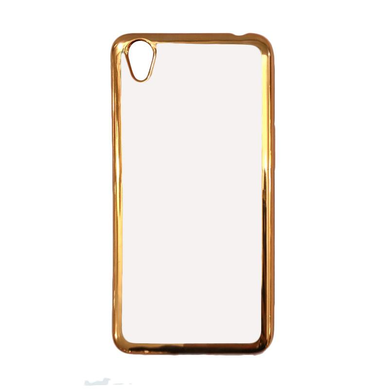OEM Case Shining Chrome Softcase casing for Oppo Neo 9 A37 - Gold