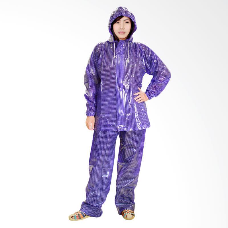 Rainwear Polkadot Beauty Jas Hujan - Ungu