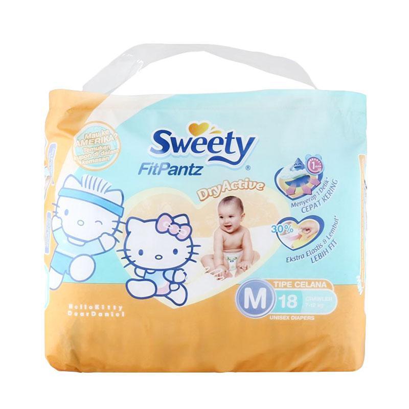 Sweety Fit Pantz Popok Bayi [Size M/18 pcs]