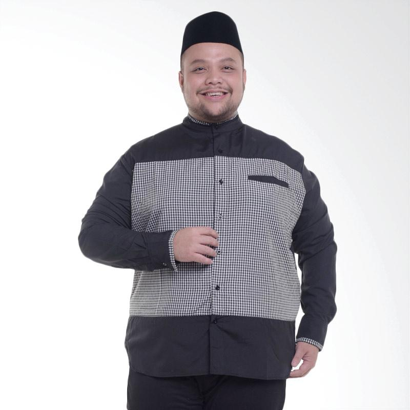 harga WGB Big Size Jumbo Sultan Koko Kemeja Pria - Hitam Blibli.com