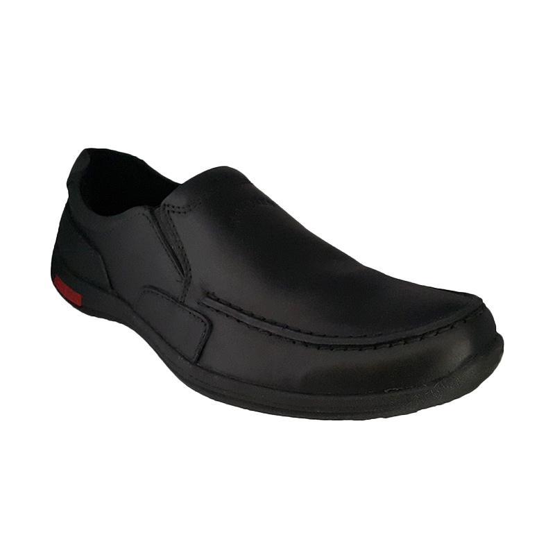 Formen FM 02 Kulit Dress Loafers Sepatu Pria - Black