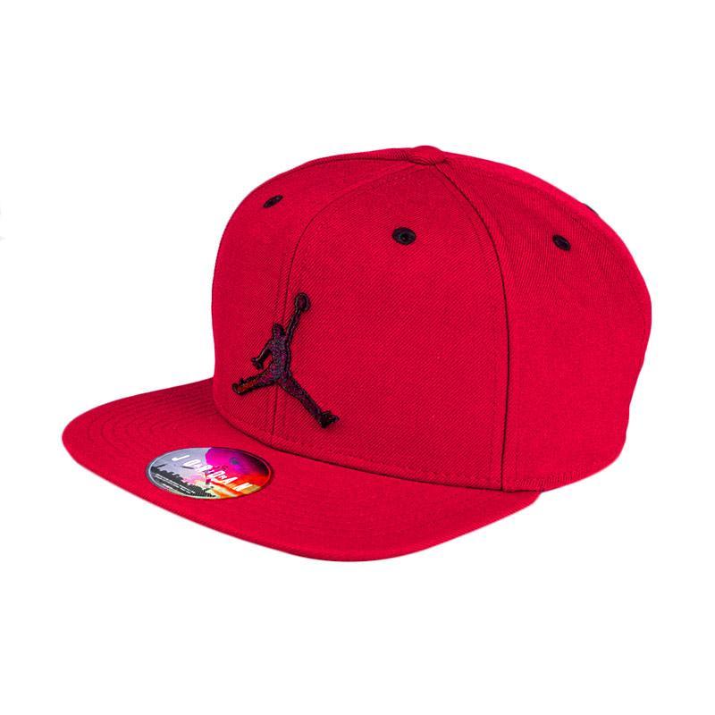 7cbf13e3c837 ... real nike jordan jumpman 619360 689 red snapback topi basket a2991 25e95