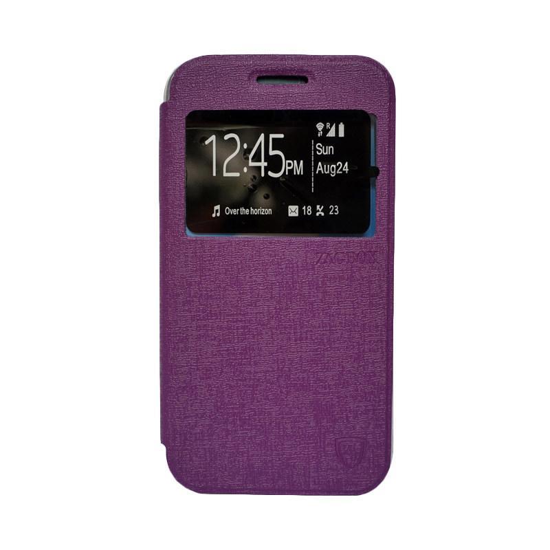 Zagbox Flip Cover Casing for Samsung Galaxy A510 A5 2016 - Ungu