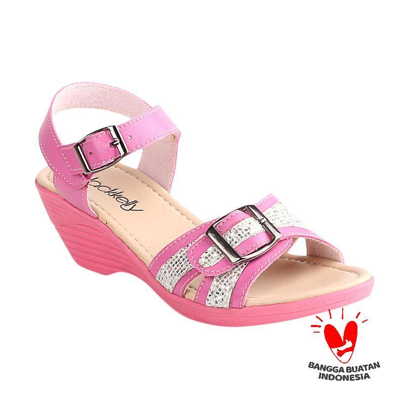 Blackkelly Bethany LCU 782 Sandal Wedges Anak - Pink Cream