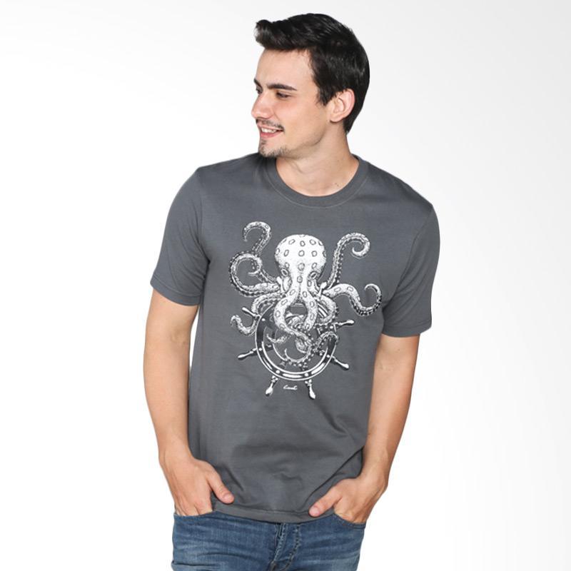 Carvil 11.MEN.GY4.66 GRY-A4 Man T-shirt - Grey Extra diskon 7% setiap hari Citibank – lebih hemat 10% Extra diskon 5% setiap hari