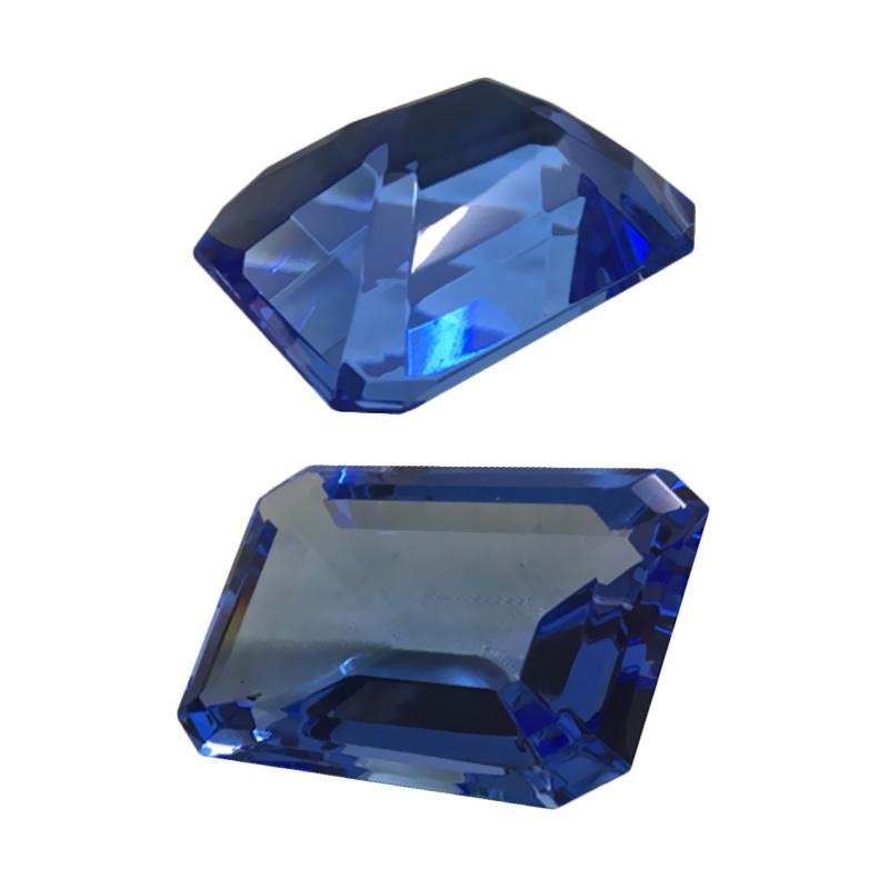 Eztu Glass Diamond Rectangular - Blue Colour