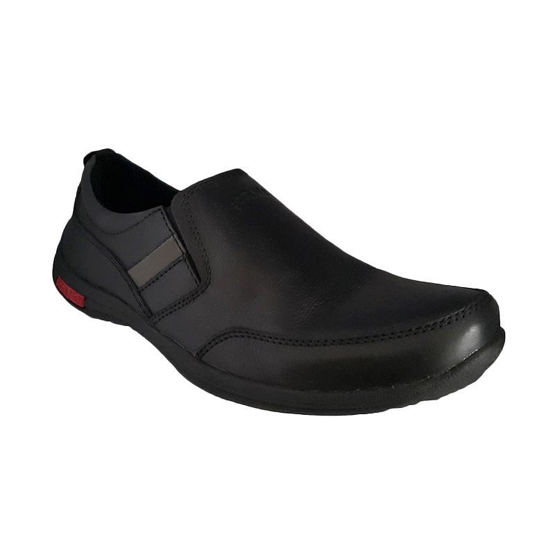Formen FM 03 Kulit Dress Loafers Sepatu Pria - Black