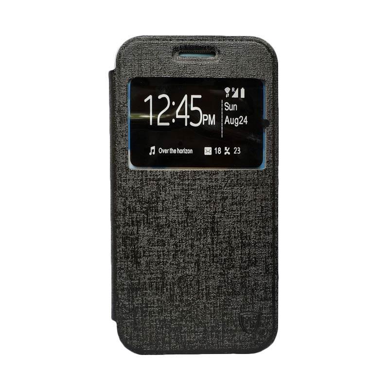 Zagbox Flip Cover Samsung Galaxy A710 A7 2016 - Hitam