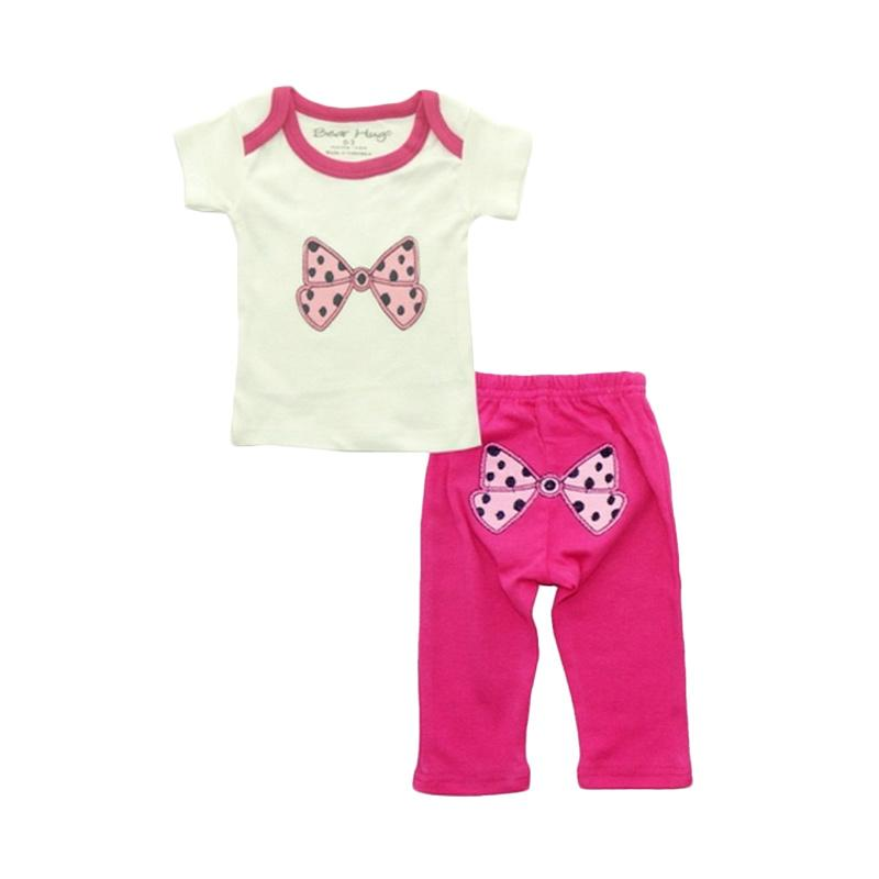 Bearhug Baby Girl Pink Bow Set Pakaian Anak [2 Pcs]