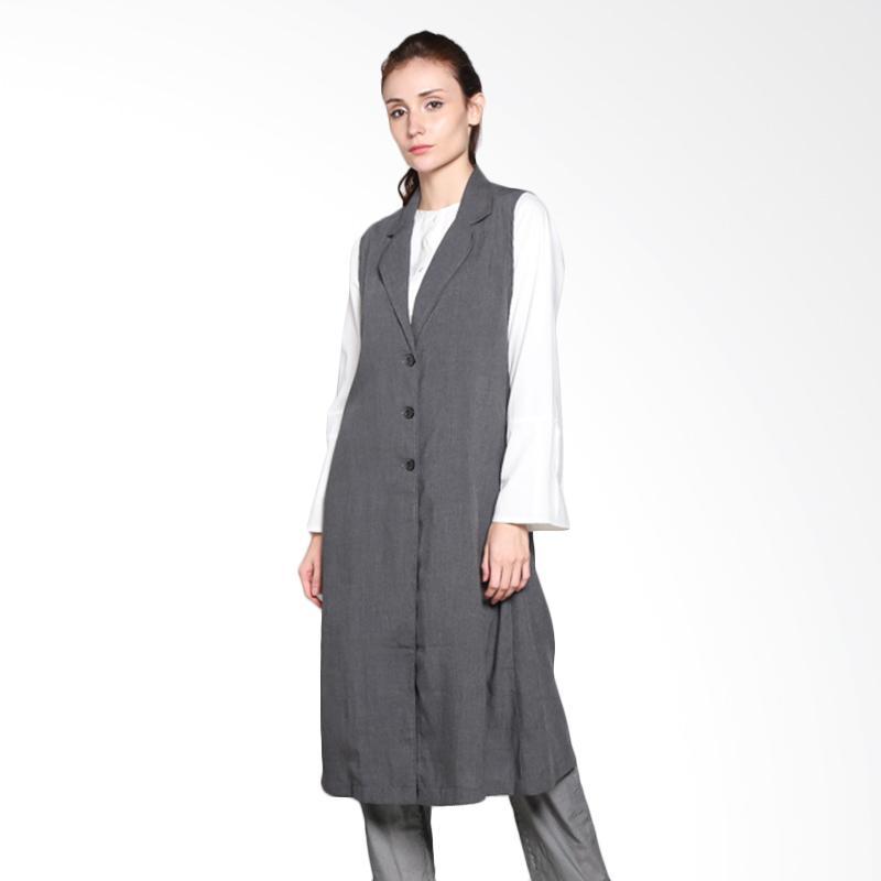 harga Runthing RTO 002.16 Karam Vest - Charcoal Grey Blibli.com