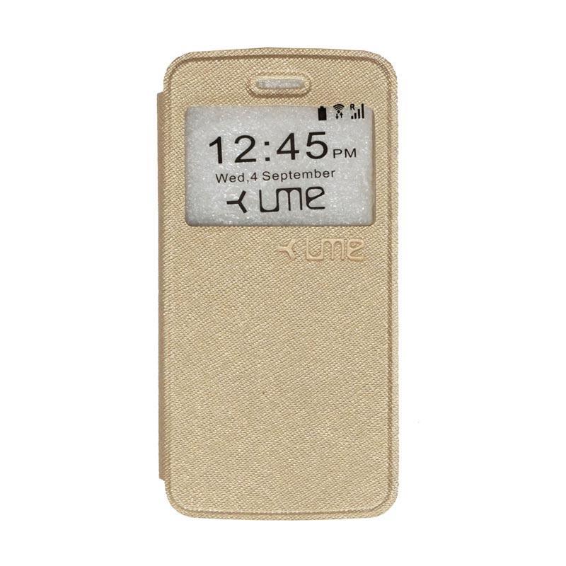 UME Flipshell Flip Cover Casing for Himax M2 - Gold