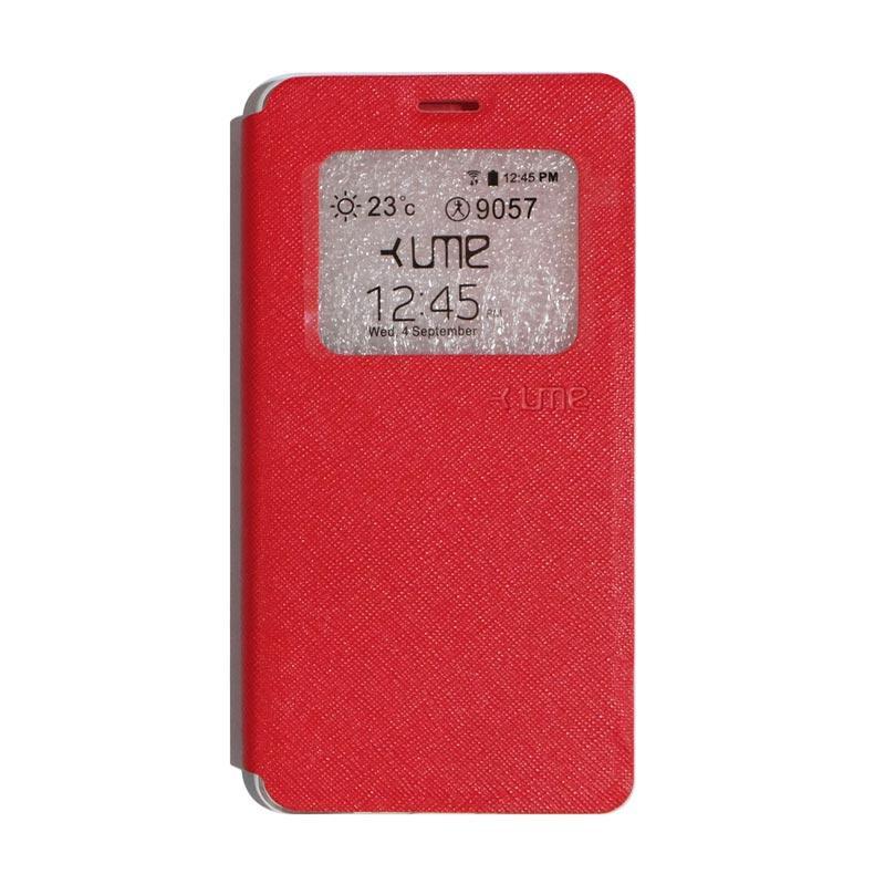 Ume Flipshell Flip Cover Casing for Vivo Y51 - Red