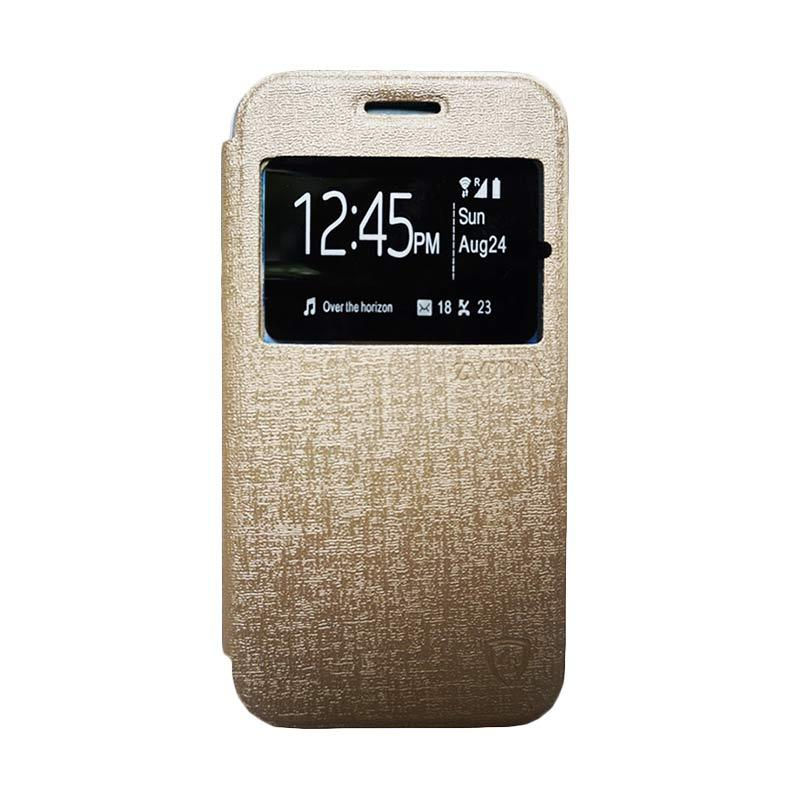 ZAGBOX Flip Cover Casing for Samsung Galaxy V or Ace 4 - Gold