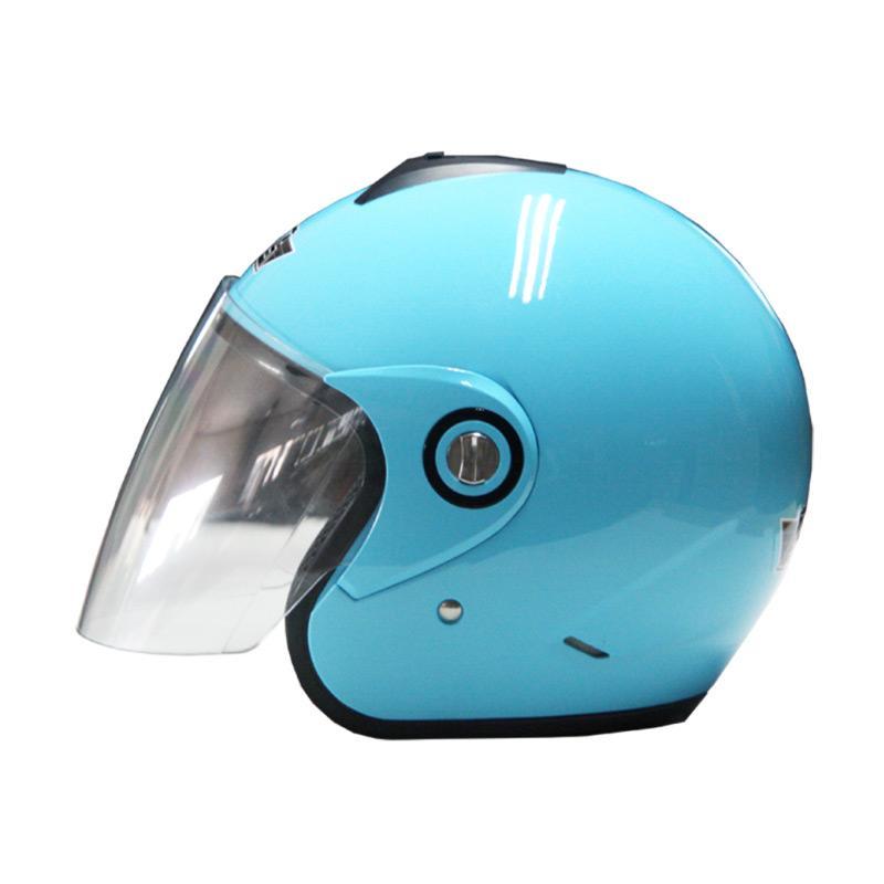harga AVS Retro Helm Half Face - Solid Blue Pastel [Size L] Blibli.com