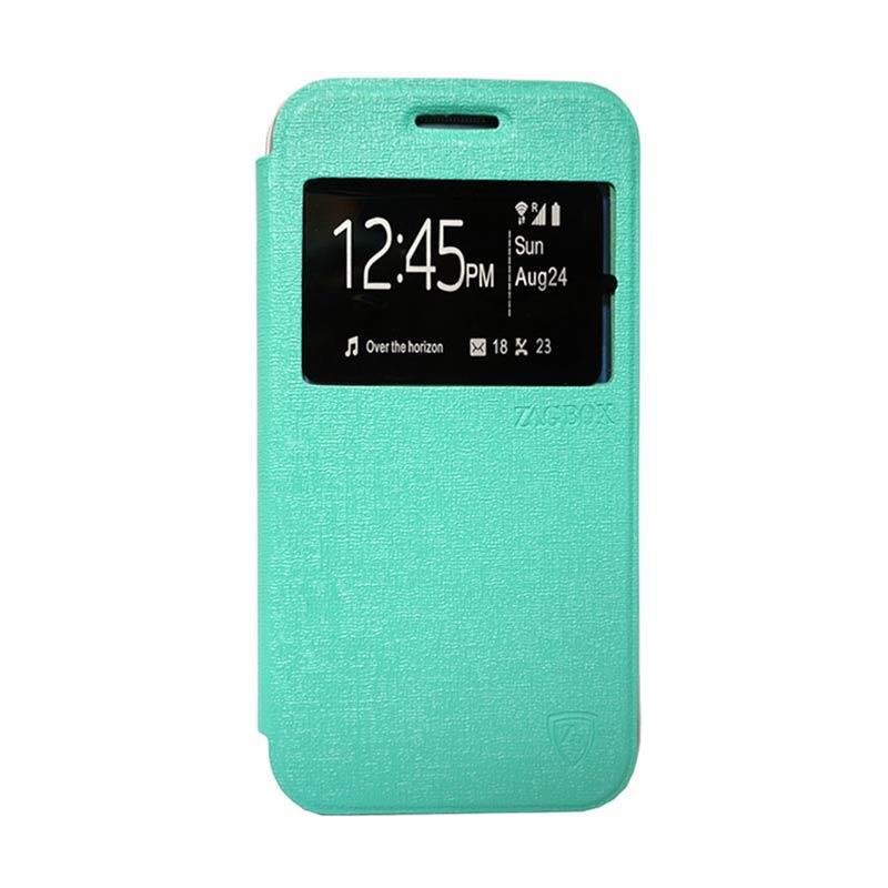 harga Sarung Flip Cover Casing for Xiaomi Redmi Mi4i or Mi4c - Hijau Tosca Blibli.com