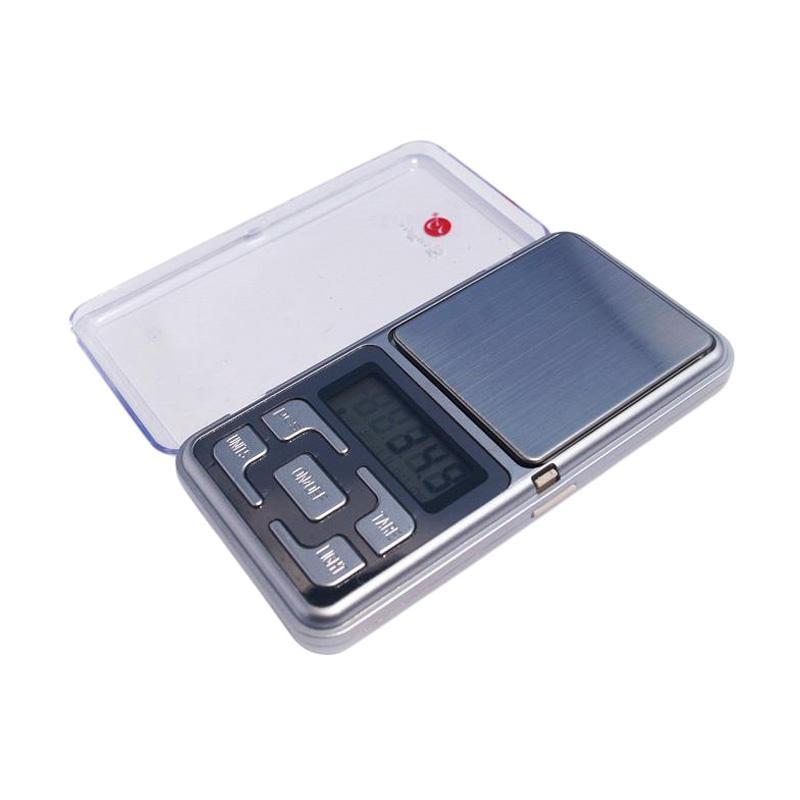 MH Digital Pocket Scale 200-0,01 gram Timbangan Emas - Silver