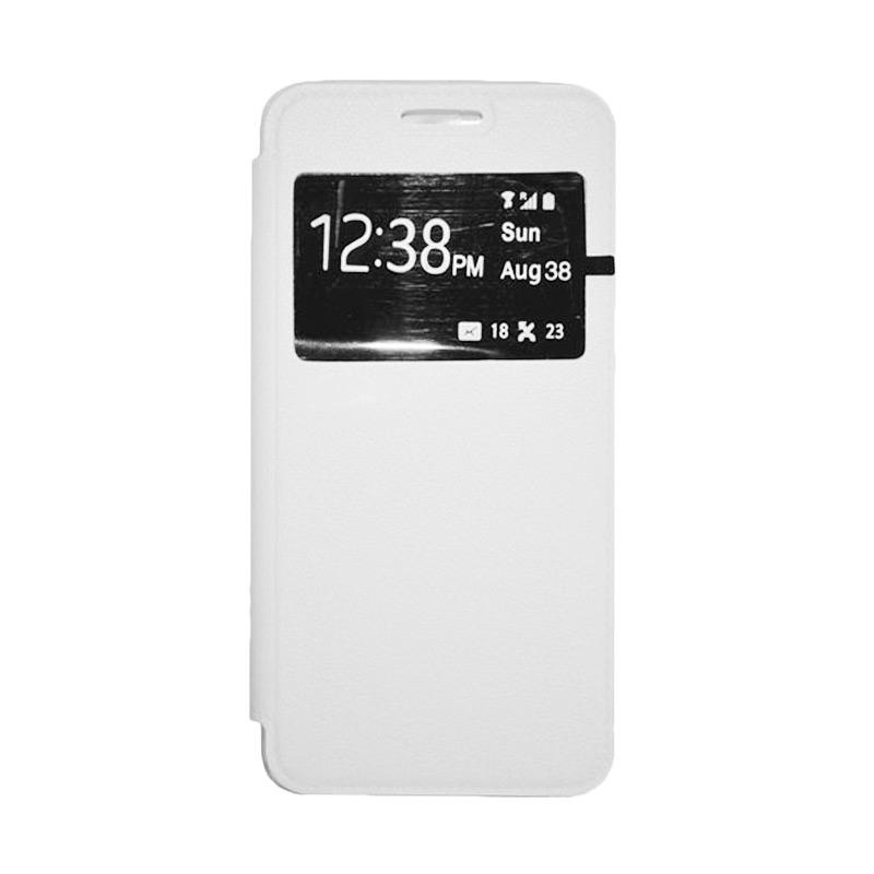 OEM Leather Book Cover Casing for Xiaomi M3 - White
