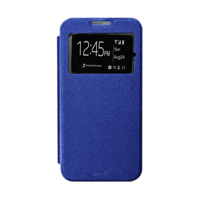 Smile Flip Cover Casing for Asus Zenpad C 7 Inch-ZE170CG - Biru Tua