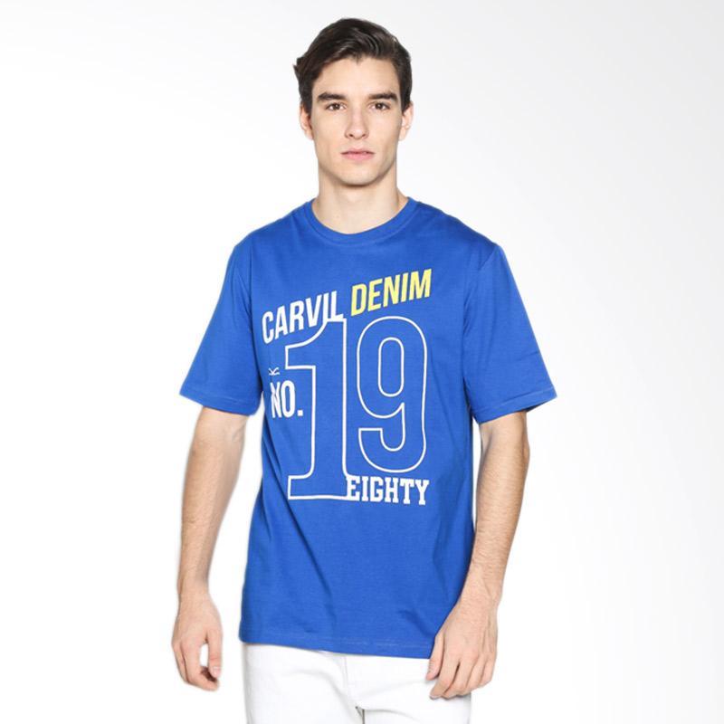 Carvil Men 11.TEE.BLU.G1/ TEEBLU-B1 T-Shirt Pria - Blue Extra diskon 7% setiap hari Extra diskon 5% setiap hari Citibank – lebih hemat 10%