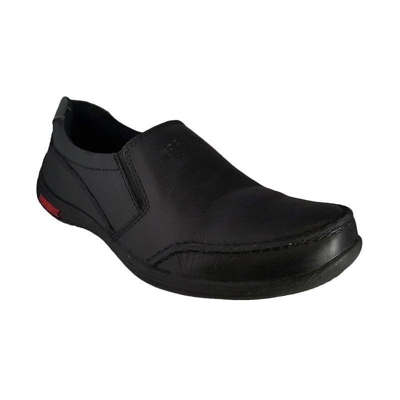 Formen FM 06 Kulit Dress Loafers Sepatu Pria - Black
