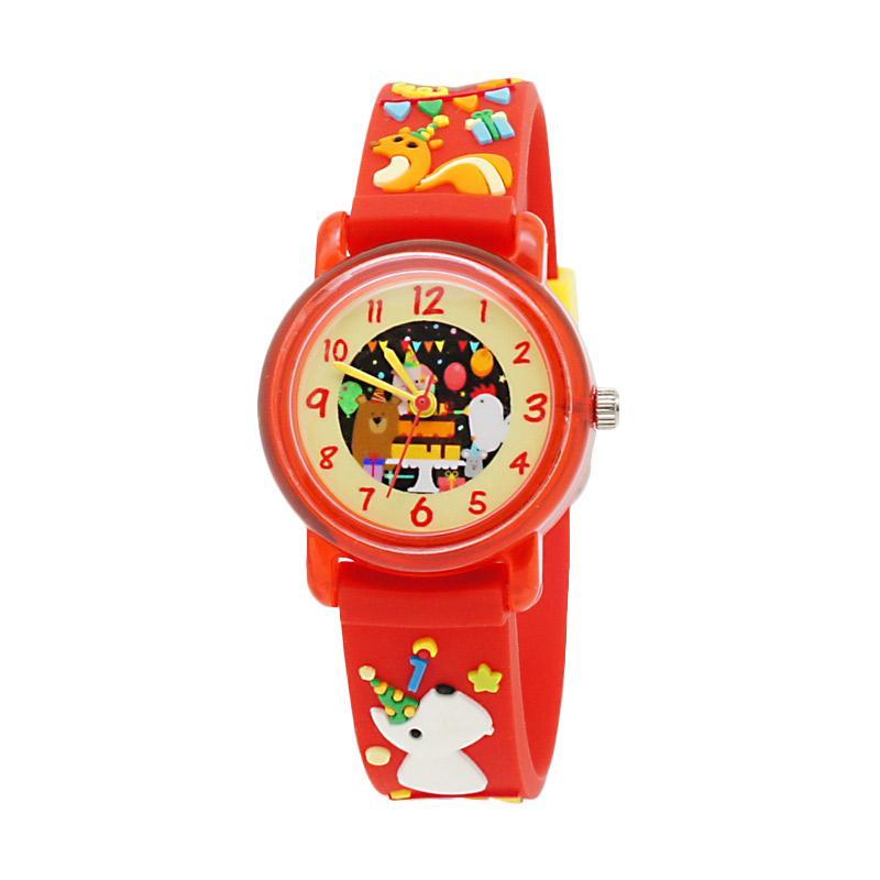 LINKGRAPHIX KT29 HBD Jam Tangan Anak - Merah