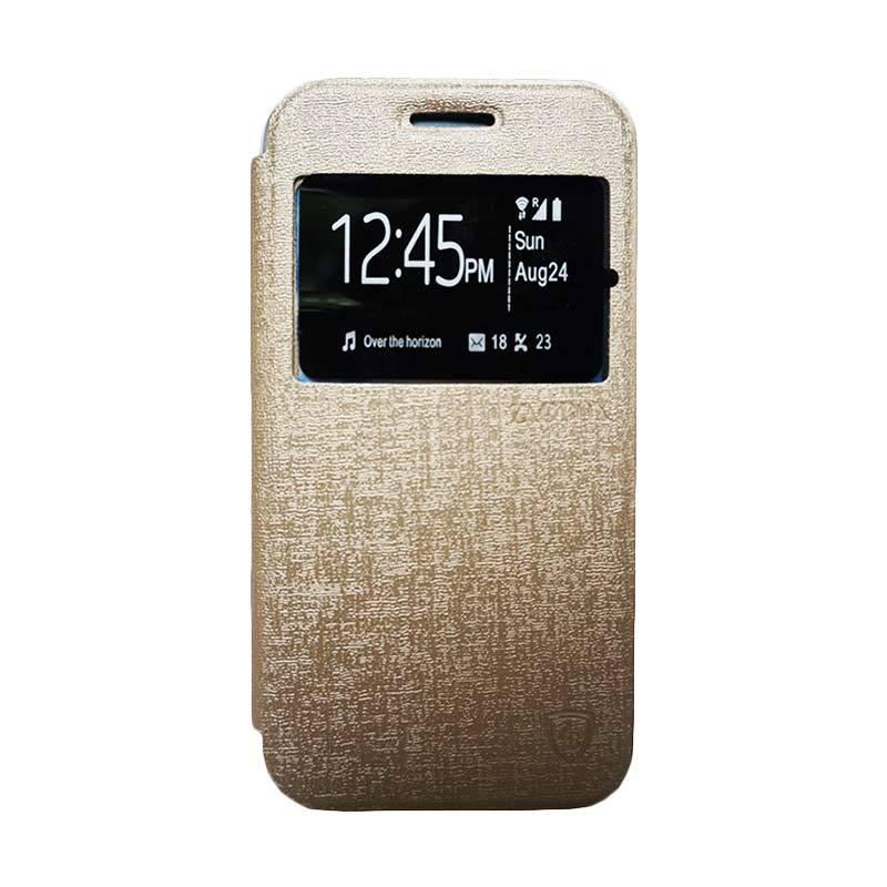 Zagbox Flip Cover Casing for Sony Xperia Z3 Mini - Gold