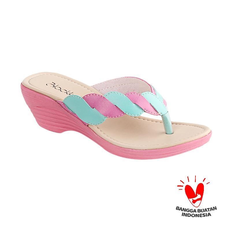 Blackkelly Iliana LCU 641 Sandal Flip Flop Anak - Pink Tosca