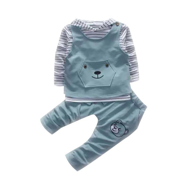 Chloebaby Shop 3in1 Bear F970 Setelan Baju Anak Perempuan - Tosca