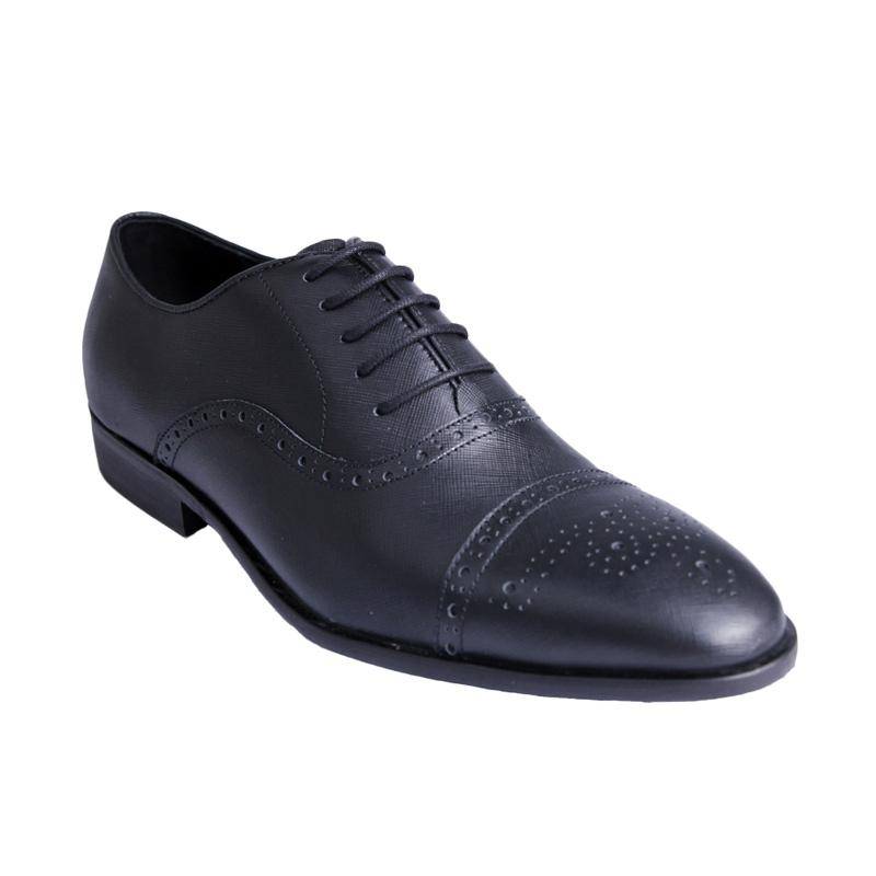 Ftale Footwear Steinman Mens Shoes Sepatu Formal Pria - Full Black