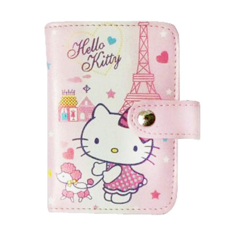 Hello Kitty HK Dog Dompet Kartu - Pink