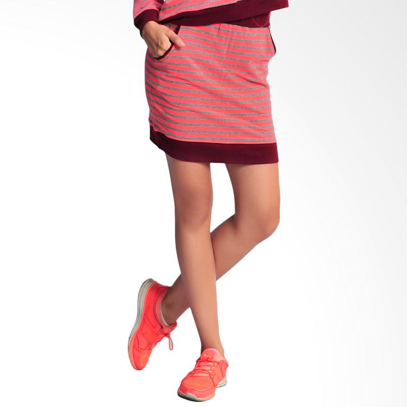 SJO & SIMPAPLY Rivani Stripe Women Skirt - Pink