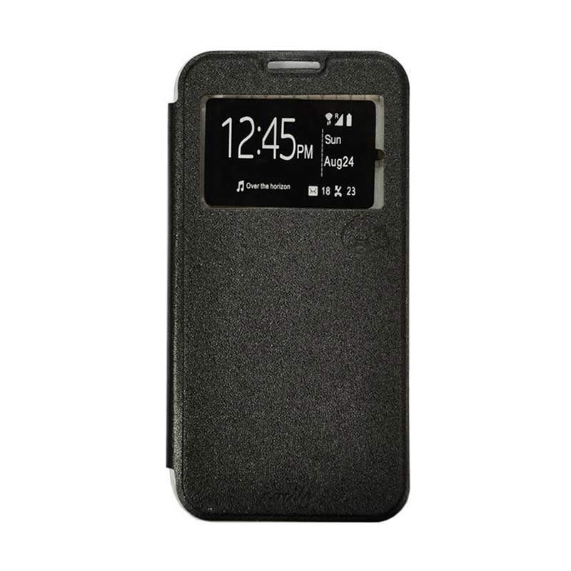 Smile Flip Cover Casing for Asus Zenfone Go ZB500KL 5 Inch - Hitam