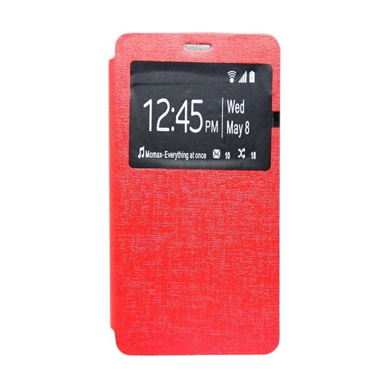 UME Flip Cover Casing for Zenfone 3 Max ZC520TL - Merah