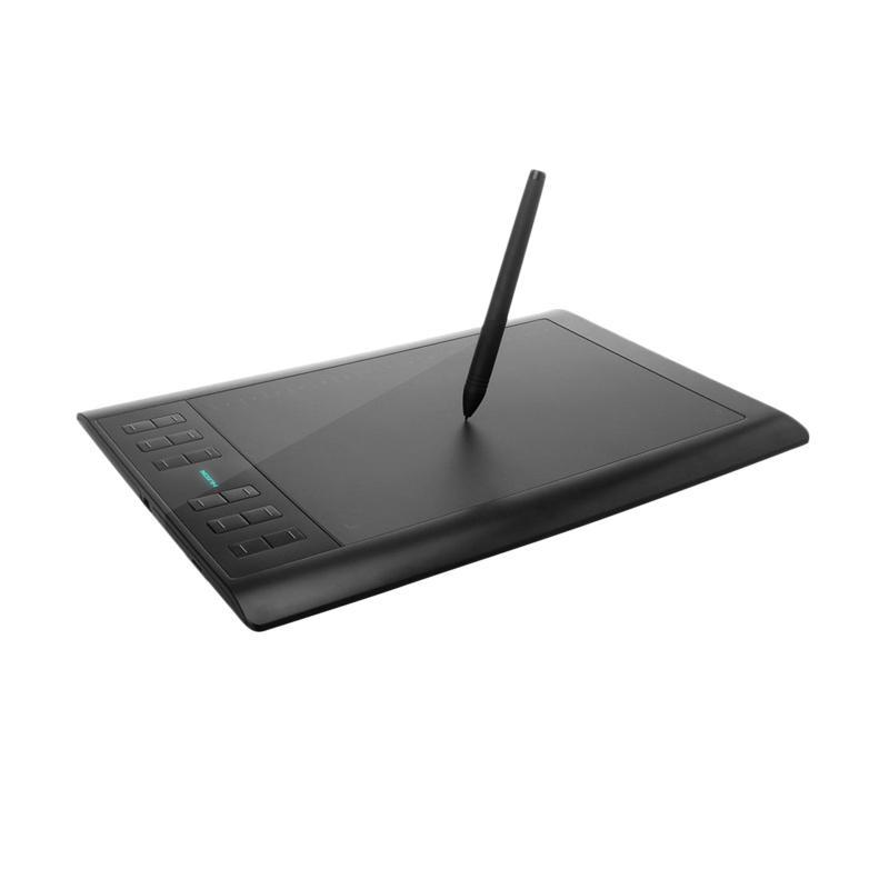 harga HUION 1060 Plus Pen Tablet Graphic Drawing - Hitam Blibli.com
