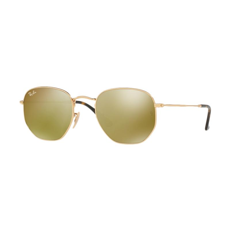 Ray-Ban RB3548NF-001/93 Gold Flash Sunglass - Gold [Size 54]