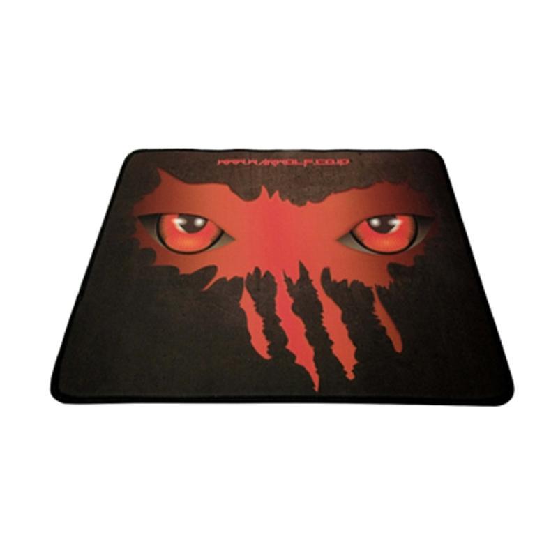 Warwolf Mata Gaming Mouse Pad - Merah [Size M]