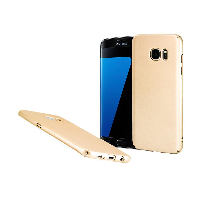 Fashion Baby Skin Ultra Thin Hardcase Casing for Samsung S7 Edge - Gold