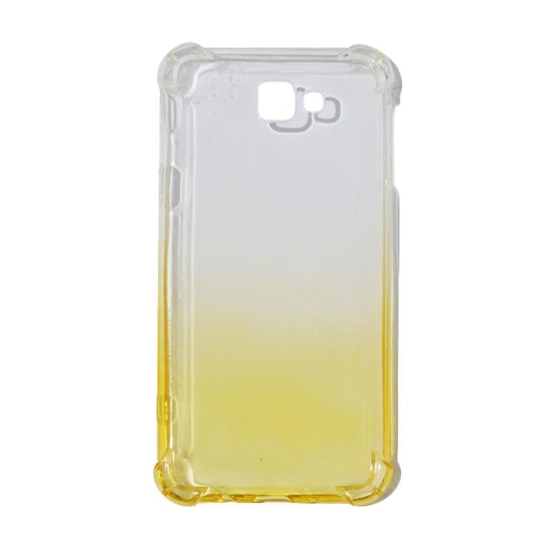 QCF BUY 1 GET 1 Softcase Anti Shock Anti Crack Warna Gradasi Casing for Samsung Galaxy J7 Prime Ultrathin / Case Unik - Yellow (Free Warna Random)