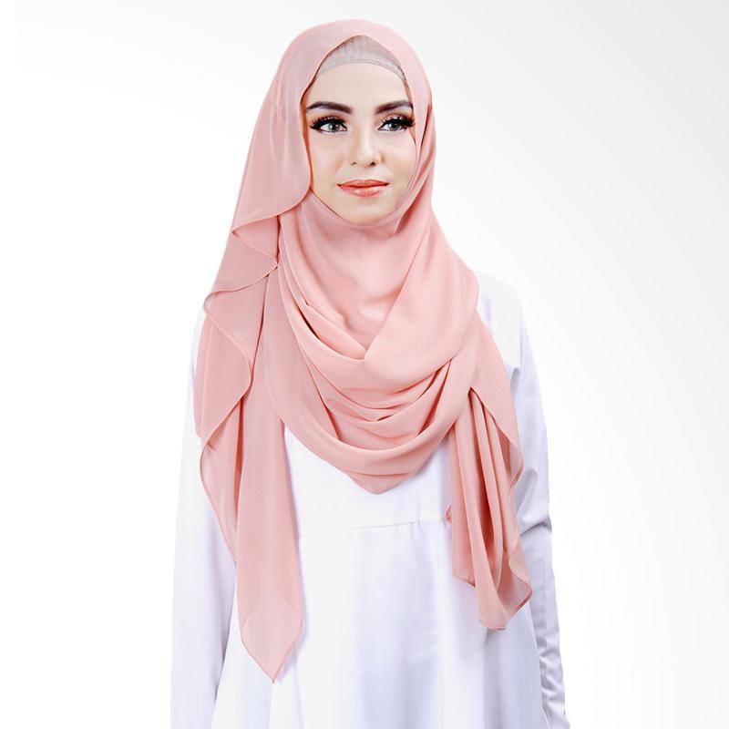 Cantik kerudung Khloe Slip In Jilbab Instant - Soft Peach No.10