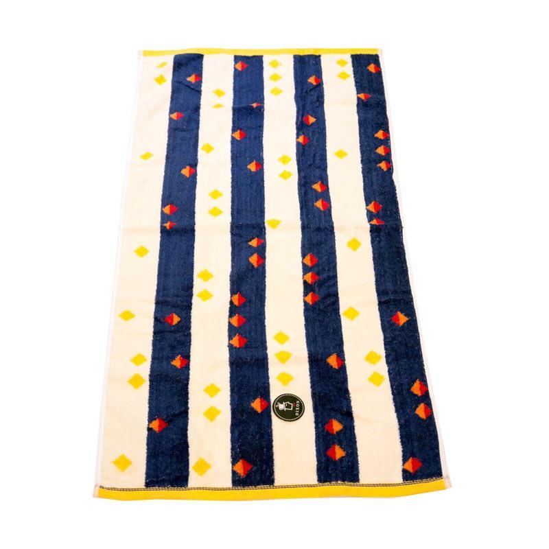 Dixon Red Blue Stripes 7088 Handuk Mandi - Blue [70 x 140 cm]