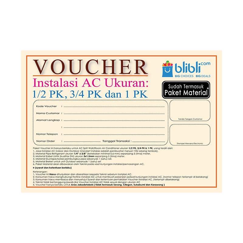 harga Menara Online Pasang AC Voucher [Jabodetabek] Blibli.com