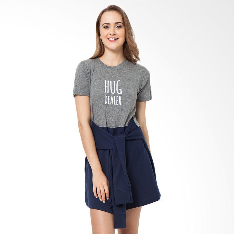 Boontie HUG Dress Atasan Wanita - Misty Navy
