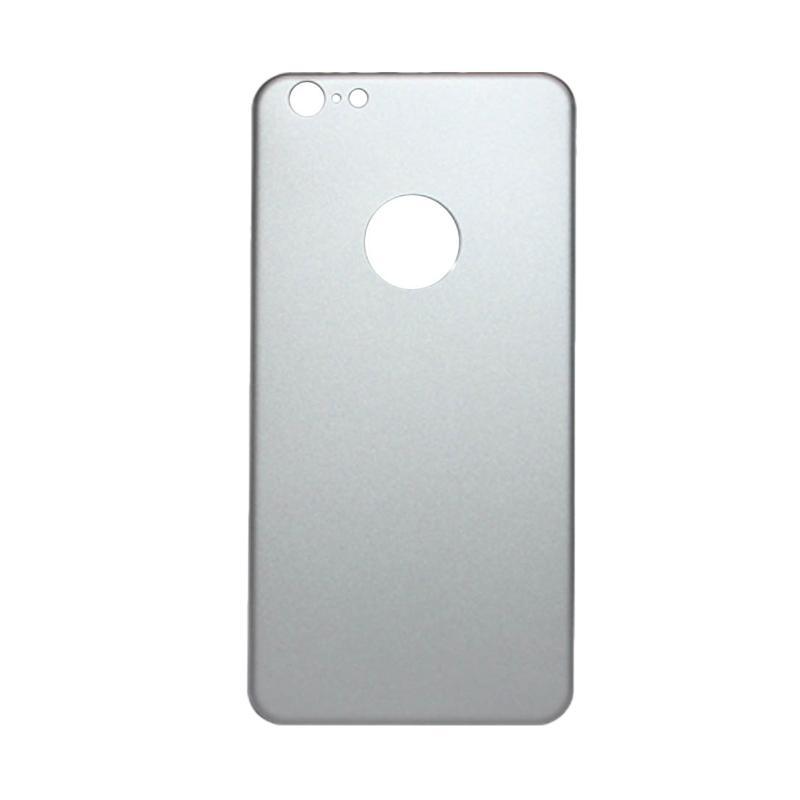 QCF Tempered Glass Aluminium Alloy Back Protector (Belakang Saja) for iPhone 6 Plus / iPhone 6Plus / Iphone 6+ 5.5 Inch Pelindung Belakang - Silver