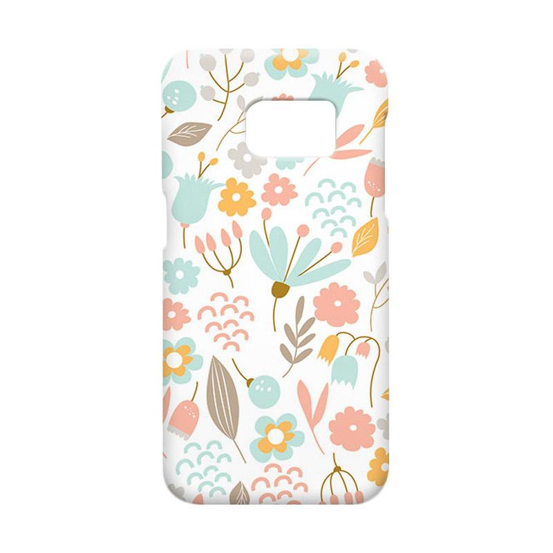 Premiumcaseid Cute Pastel Shabby Chic Floral Hardcase Casing for Samsung Galaxy S7 Edge