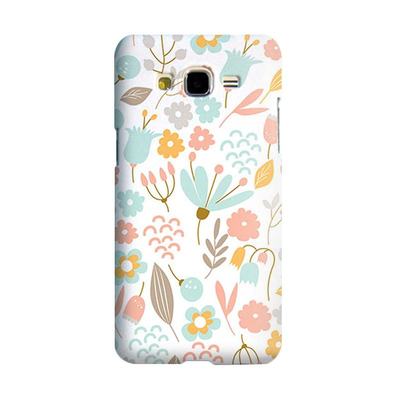 Premiumcaseid Cute Pastel Shabby Chic Floral Hardcase Casing for Samsung Galaxy Grand Prime