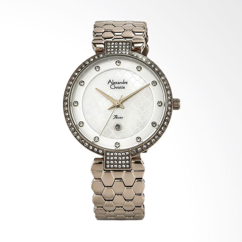Alexandre Christie AC 2686 LD BCGSL Ladies White Dial Stainless Steel Jam Tangan Wanita - Rose Gold