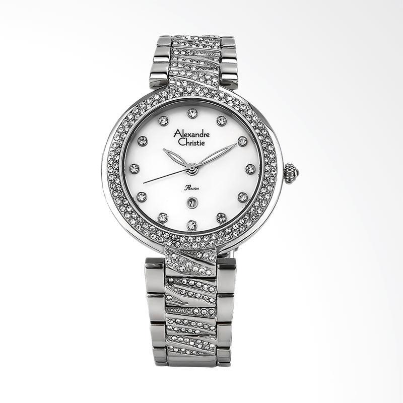 Alexandre Christie AC 2656 LD BSSMS Jam Tangan Wanita - White Silver