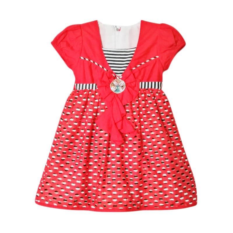 harga TWO MIX Zaguat Batu Permata 2017 Dress Anak - Merah Blibli.com