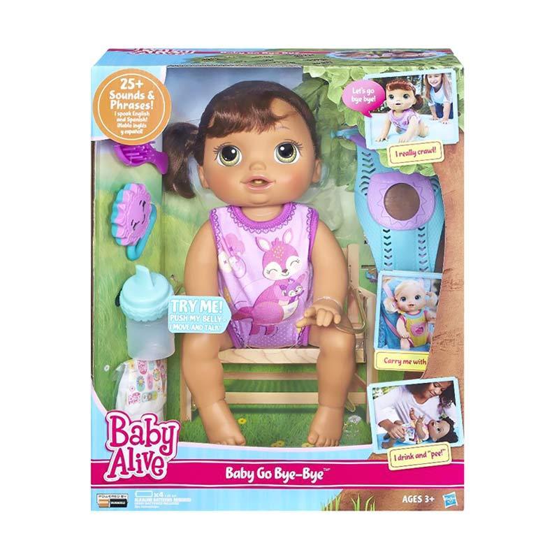 harga Baby Alive C2689 Baby Go Bye Bye Brunette Doll Mainan Anak Blibli.com