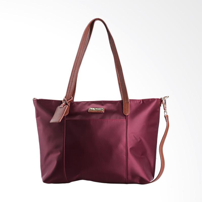 harga Phillipe Jourdan THA 143 Harper Hand Bag Wanita - Maroon Blibli.com